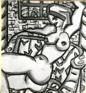 Nudo disteso sul divano - Bernhard Gillessen