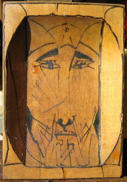 Iniziato, china su legno