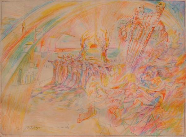 Re Davide a Gerusalemme - Bozzetto #1 - Bernhard Gillessen