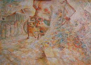Trionfo di Re Davide a Gerusalemme - Bernhard Gillessen