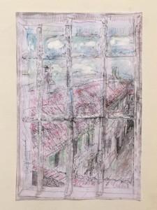 Veduta sul cortile dell'atelier - Bernhard Gillessen