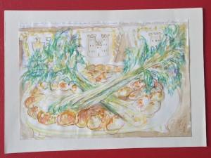 Sagra del Sedano e della Salsiccia - Bozzetto per base ornamentale - Bernhard Gillessen