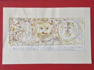 Scene di Vita Medioevale - Bozzetto per base ornamentale- Bernhard Gillessen