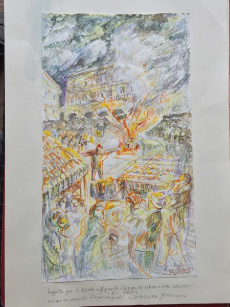 Sagra del Sedano e della Salsiccia - Bozzetto per dipinto - Bernhard Gillessen